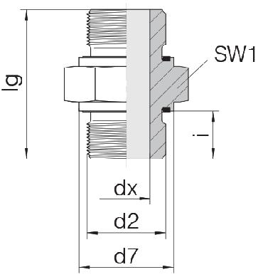 Соединение для труб штуцерное прямое GP-SD2S-G1E-G1E