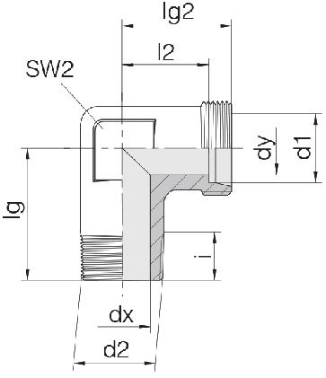 Соединение для труб штуцерное угловое 24-SDE-LL6-M6T-P