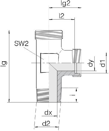 Соединение для труб штуцерное тройник 24-SDL-S12-R3/8T-P