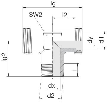 Соединение для труб штуцерное тройник 24-SDT-LL6-R1/8T