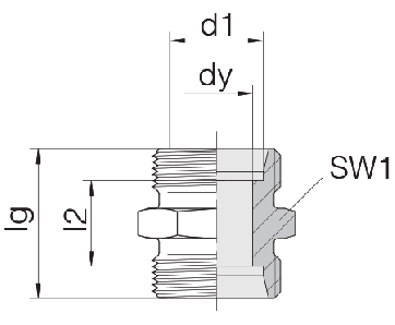 Соединение для труб проходное прямое 24-S-LL6