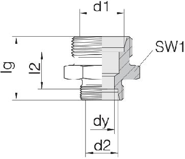 Соединение для труб переходное прямое 24-S-L18-L10