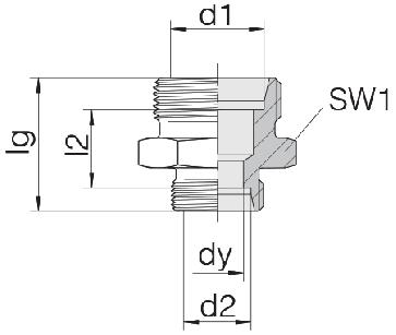 Соединение для труб переходное прямое 24-S-S8-S6