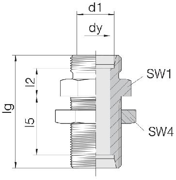 Соединение для труб переборочное прямое 24-BHSLN-L8