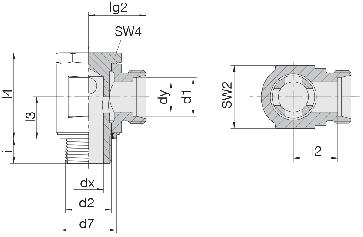 Соединение для труб поворотное угловое 24-BSE-L6-M10E