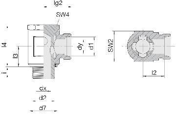 Соединение для труб поворотное угловое 24-BSE-LL6-G1/8E