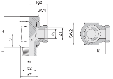 Кольцо врезное 24-1S-LL4 купить в БАРС ГИДРАВЛИК ГРУПП
