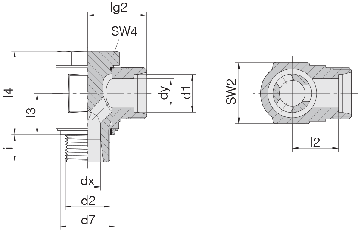 Соединение для труб поворотное угловое 24-BCE-L6-G1/8E