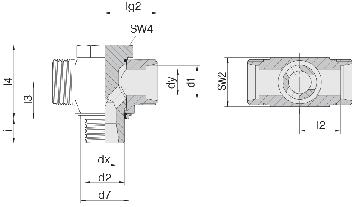 Соединение для труб поворотное Т-образное 24-BCT-S6-G1/4E-P