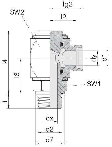 Соединение для труб поворотное угловое угловое 24-RCE-S10-G3/8E-C10