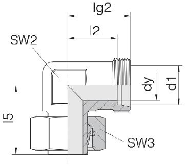Соединение для труб регулируемое угловое 24-SWE-L22