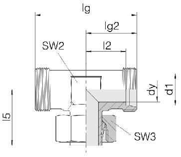 Соединение для труб регулируемое Т-образное 24-SWT-L15