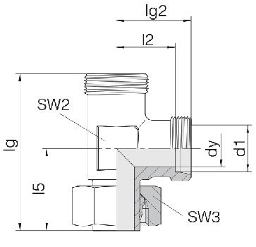 Соединение для труб регулируемое L-образное 24-SWL-L28