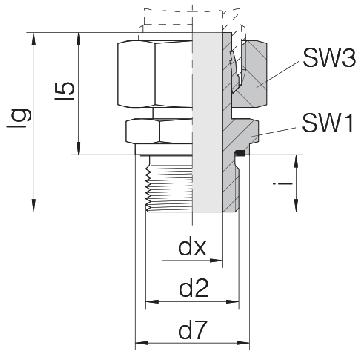 Соединение для труб штуцерное прямое с гайкой 24-SWSDS-L8-G1/4E