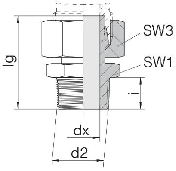Соединение для труб штуцерное прямое с гайкой 24-SWSDS-S16-N1/2T