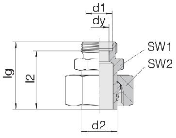 Соединение для труб переходное прямое с предварительно монтированной гайкой 24-SWS-L28-L22