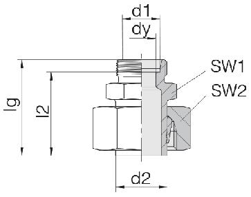 Соединение для труб переходное прямое с предварительно монтированной гайкой 24-SWS-S25-S12