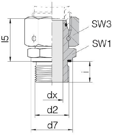 Соединение для труб штуцерное прямое с кримпованной гайкой 24-SWOSDS-L18-M26E