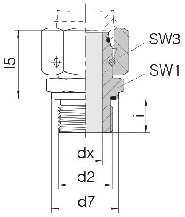 Соединение для труб штуцерное прямое с кримпованной гайкой 24-SWOSDS-L6-G1/8E