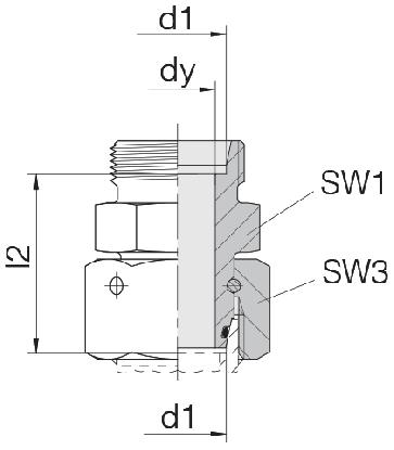 Соединение для труб проходное прямое с кримпованной гайкой 24-SWOS-L8