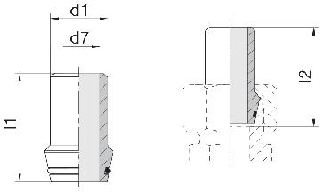 Ниппель приварной с уплотнительным кольцом 24-WDNPSO-8x2-C10
