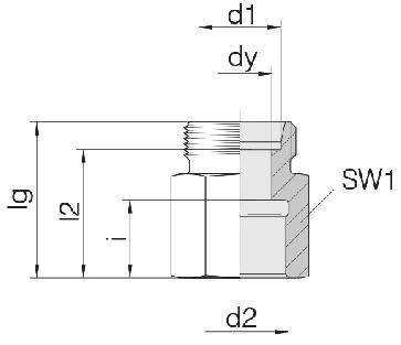 Соединение для труб переходное прямое 24-S-L8-IG1/2