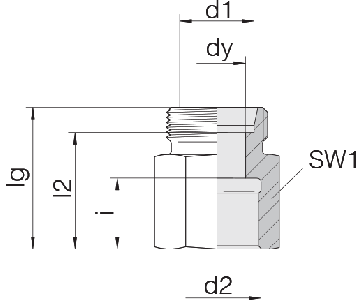 Соединение для труб переходное прямое 24-S-S10-IG3/8