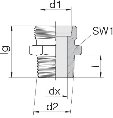 Соединение для труб штуцерное прямое коническое 24-SDS-L6-R3/8T