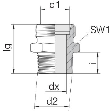 Соединение для труб штуцерное прямое коническое 24-SDS-S16-R3/8T