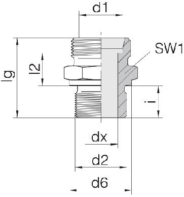 Соединение для труб штуцерное прямое коническое 24-SDS-L10-G1/4B