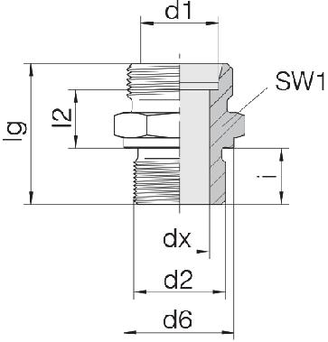 Соединение для труб штуцерное прямое коническое 24-SDS-S38-G11/2B