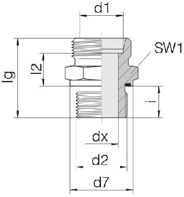 Соединение для труб штуцерное прямое коническое 24-SDS-S30-G11/2E