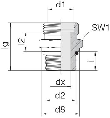 Соединение для труб штуцерное прямое коническое 24-SDS-S20-U15/16-12F