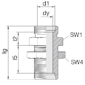 Соединение для труб переборочное прямое 24-BHSLN-S25