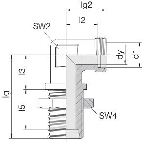Соединение для труб переборочное угловое 24-BHELN-S14
