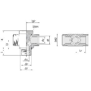 Соединение для труб поворотное Т-образное 24-BCT-L6-G1/8E-P