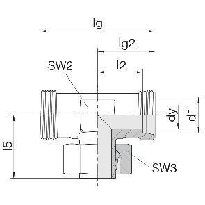 Соединение для труб регулируемое Т-образное 24-SWT-L6