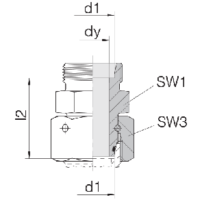Соединение для труб проходное прямое с кримпованной гайкой 24-SWOS-L6