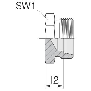 Заглушка на трубу с резьбой 24-TBS-L6