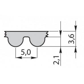 Ремень приводной зубчатый полиуретановый 580-5M-15