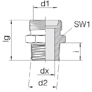 Соединение штуцерное 24-SDS-L22-G3/4E
