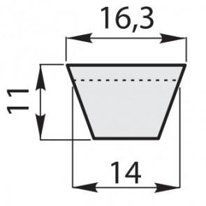 Ремень клиновый классические зубчатый B-34/850