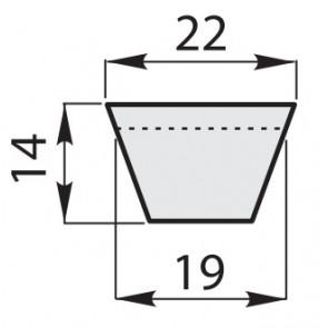 Ремень клиновый классические зубчатый CX-110/2858