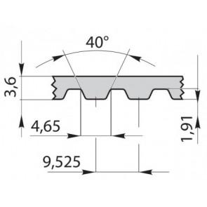 Ремень зубчатый 540L075